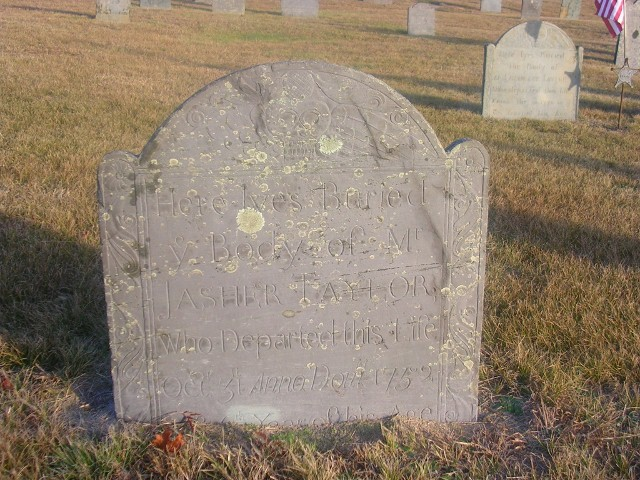 Jasher Taylor Gravestone -- Ancient Cemetery, Yarmouth Port Barnstable, Mass -- Findagrave #43963059