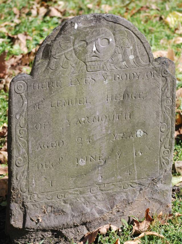 Lemuel Hedge Headstone -- Granary Burial Ground Boston -- Findagrae # 21009463