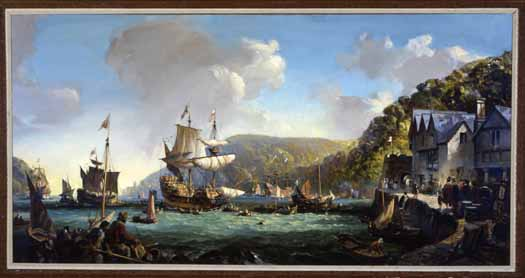 Mayflower and Speedwell in Dartmouth Harbor' Plymouth (Ma)-Pilgrim Hall Museum eslie Arthur Wilcox (1904-1982)