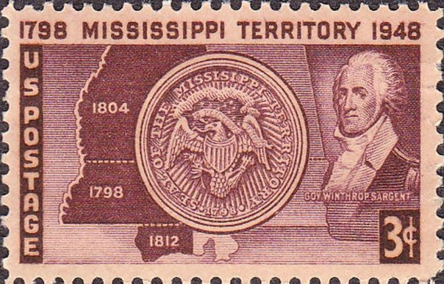 Mississippi Territory ~~ Winthrop Sargent ~Issue of 1948