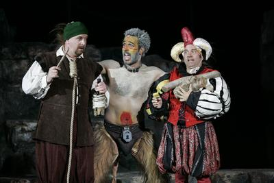 Stephano, Caliban and Trinculo