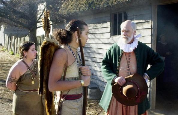Steven Hopkins meeting with the colonists Wampanoag Indian interpreter Hobbamock