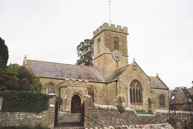 Andrew was baptized in Symondsbury, parish church of St. John the Baptist