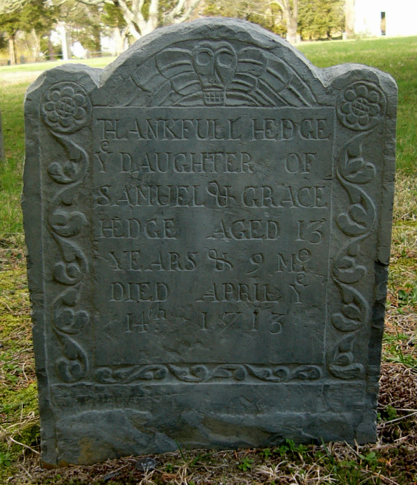 Thankful Hedge Headstone