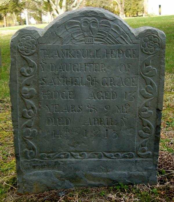 Thankful Hedge Headstone