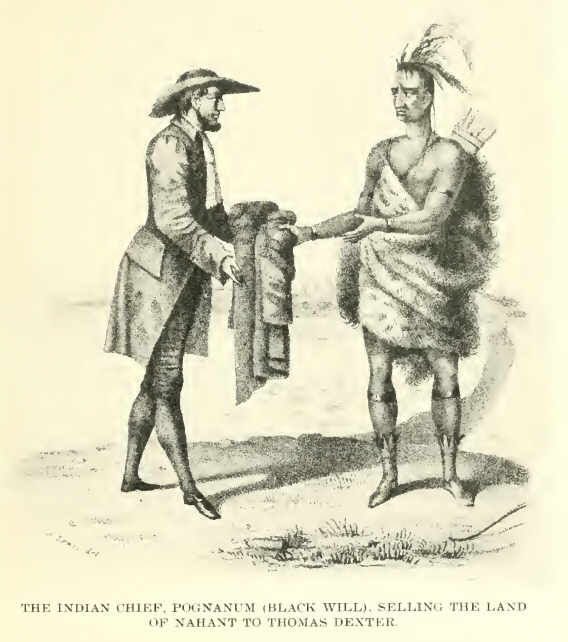 THE INDIAN CHIEF, POGNANUM (BLACK WILL), SELLING THE LAND