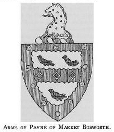Arns of Payne of Market Bosworth (I finally found from a 1912 book on archive.com