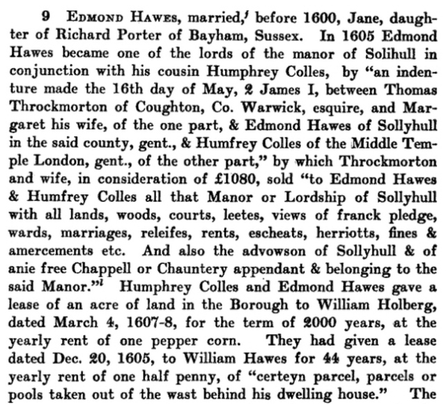 Edmund Hawes Sr Bio -