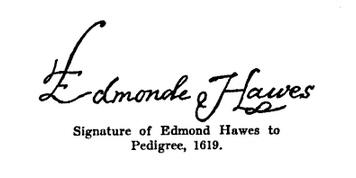 Edmund Hawes Sr Signature