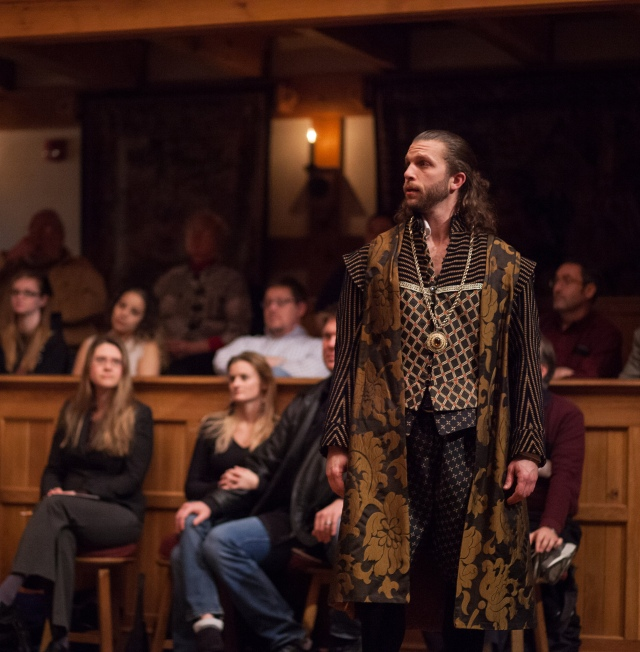 Gregory Jon Phelps as Buckingham in Henry VIII. in 2013 American Shakespeare Company production