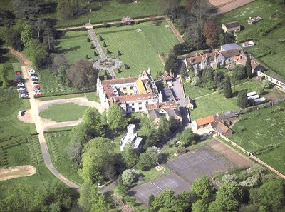 Hengrave Hall from the air