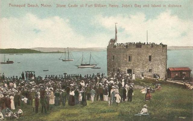 Replica of Fort William Henry in 1909
