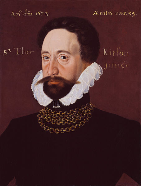 Sir Thomas Kytson, the Younger (1573), son of Sir Thomas  by George Gower.