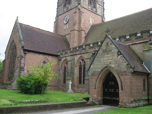 St Alphege Church - Between the north porch (right) and the north transept (left), you can see 2 nave windows. The one on the left looks into St Thomas a Becket's Chapel (below). This used to be the location of the Hawes' family pew. It was not the ideal place to view a service - the stained glass panel on the right was formerly a small opening through which to look. However, it was the ideal place - in front of all the other pews - to emphasize your wealth and status.