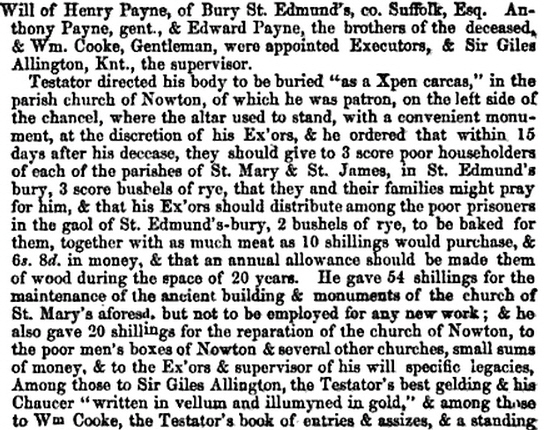Will of Henry Payne 1