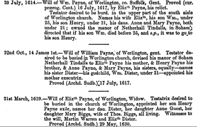 Will of William Payne