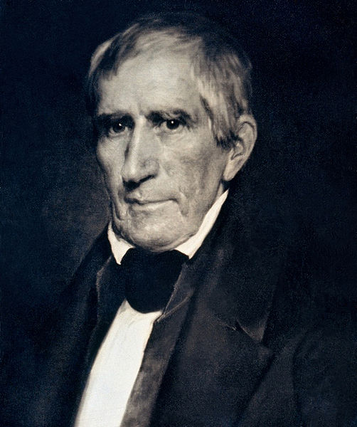 William Henry Harrison in 1841;  This is an early (circa 1850) photographic copy of an 1841 daguerreotype.  Harrison was the first President to have his picture taken while in office