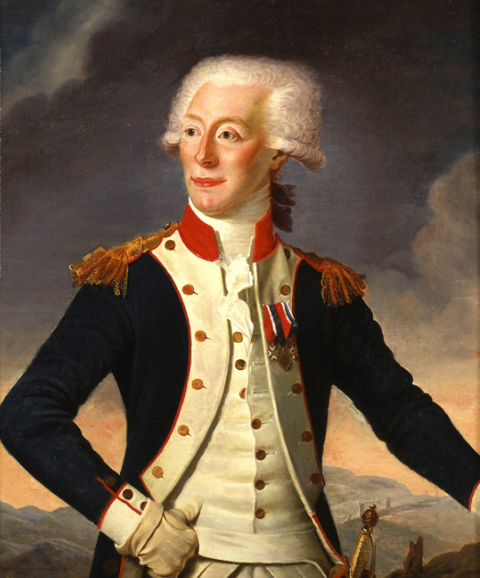 Lafayette Portrait  - Commissioned by Thomas Jefferson 1790, Restored by Darius Chase 1845