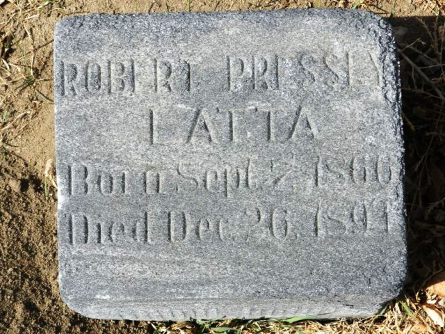 Robert Pressly Latta Gravestone - Evergreen Cemetery  Colorado Springs El Paso County Colorado,  Find A Grave Memorial# 15680842