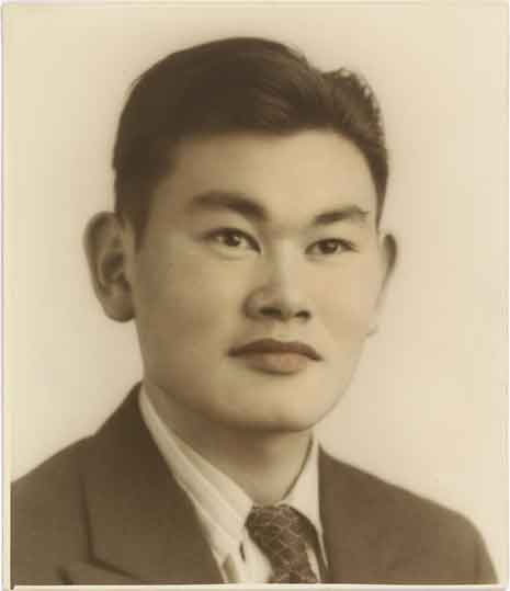 Fred Korematsu - Colored Gelatin Print.  This picture was included in a special exhibit at the National Portrait Gallery