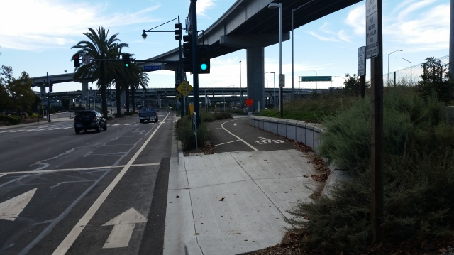 Emeryville Entrance to Bay Bridge Bike and Ped Trail