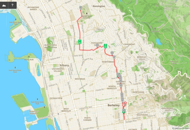 Sunday Streets Route from El Cerrito